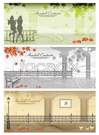 European style gallery vector