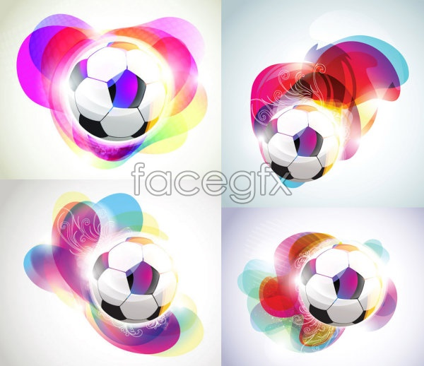 Football and magic background vector