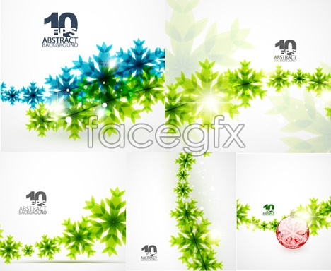 Green decoration vector