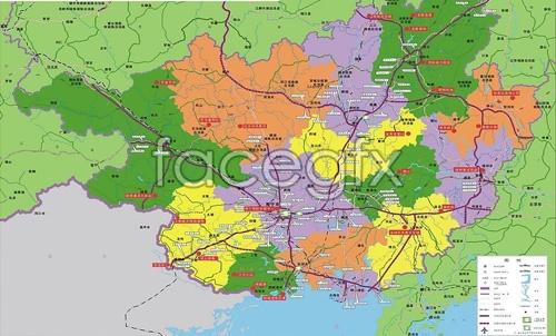 Guangxi highway line vector