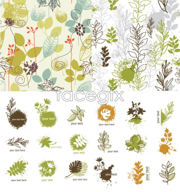 Hand-painted plant vector