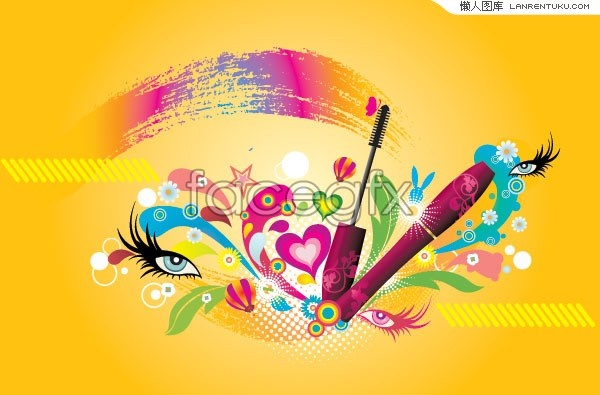 Make-up trend themes and have fun element vector