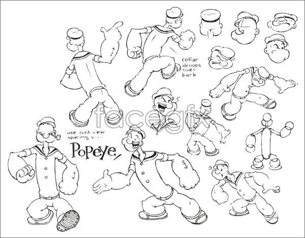 Popeye 2 vector