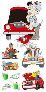 Cartoon illustrations vector
