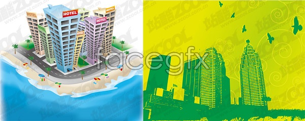 Urban theme vector