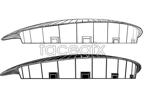 Vector badminton Hall