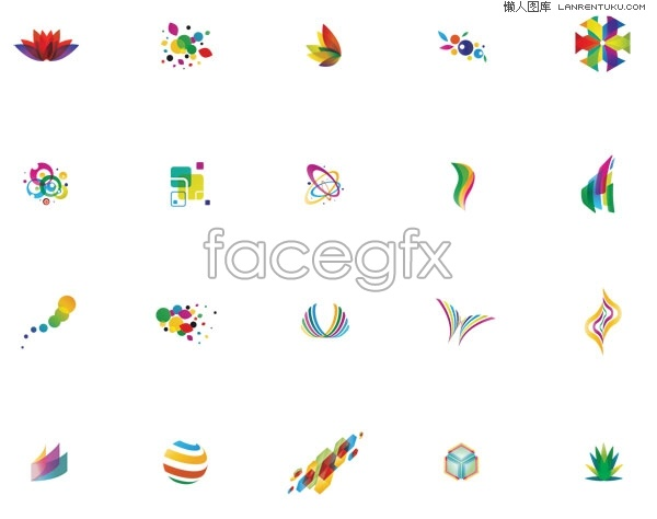 20 colourful LOGO design