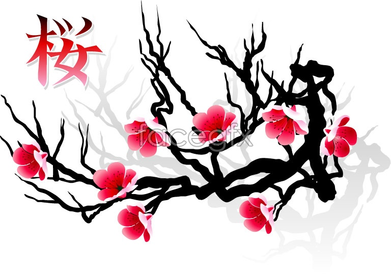 Cherry tree vector material