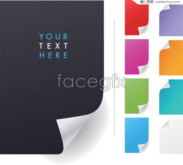 Colorful Notepad in EPS format vector