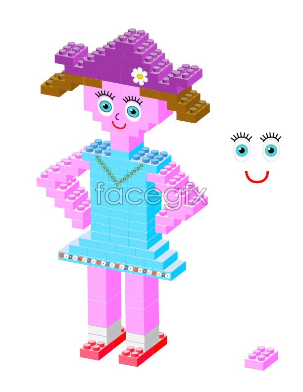 Cross product wood girls vector