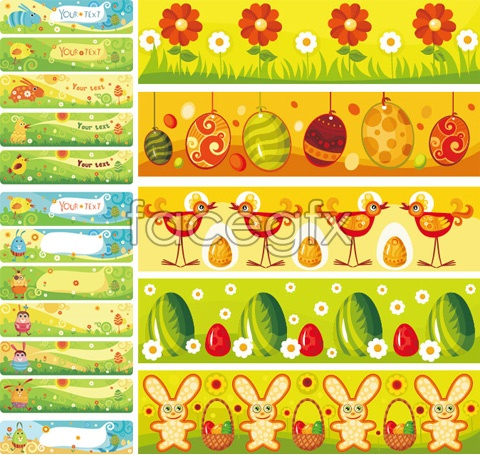 Cute cartoon banner vector