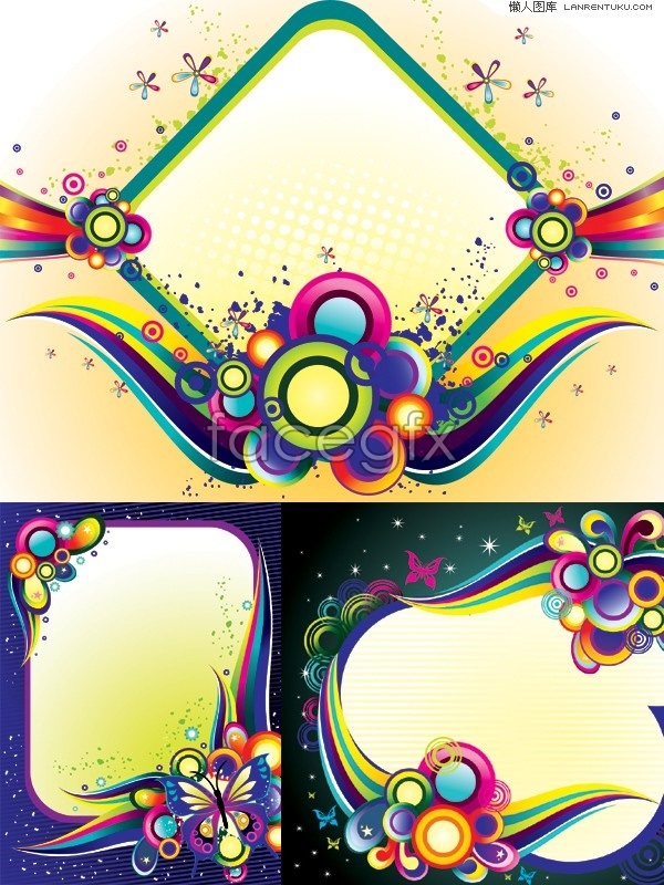 Decorating trends border pattern vector