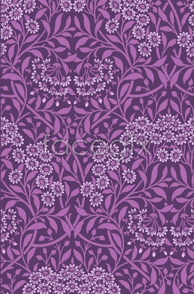 End of pattern background vector