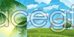 Exquisite natural scenery vector