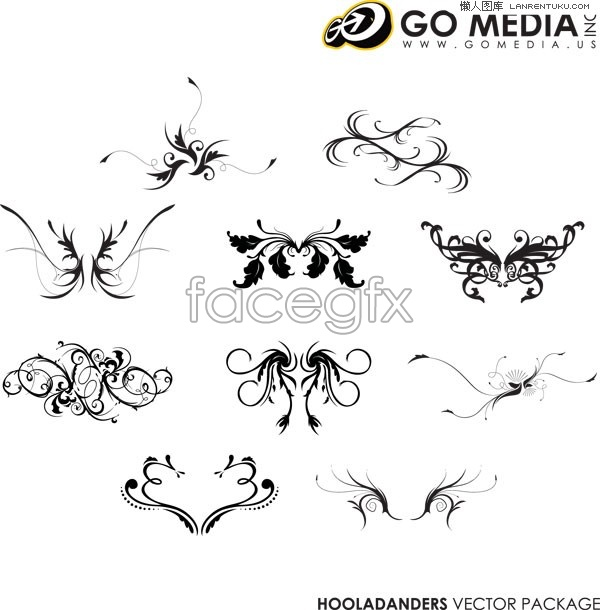 GO MEDIA 10 classic practical vector pattern