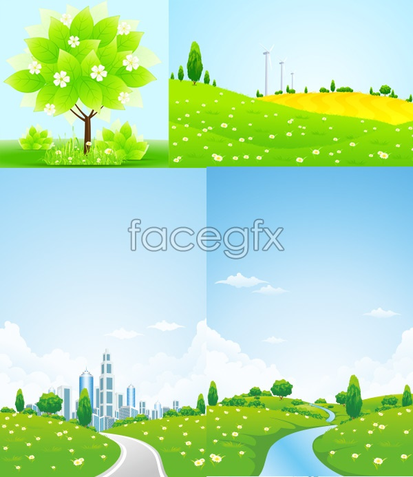 Green natural vector