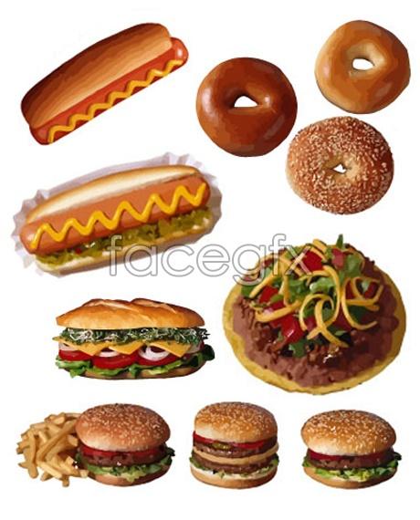 Hyper-realistic Hamburger vector