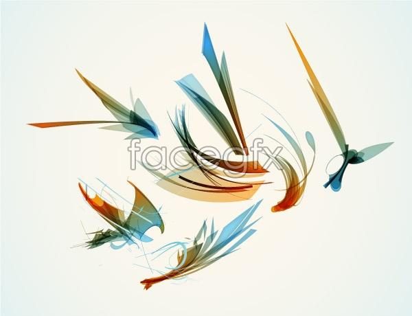 Ink Design materials vector
