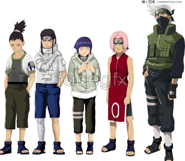 Naruto cartoon vector