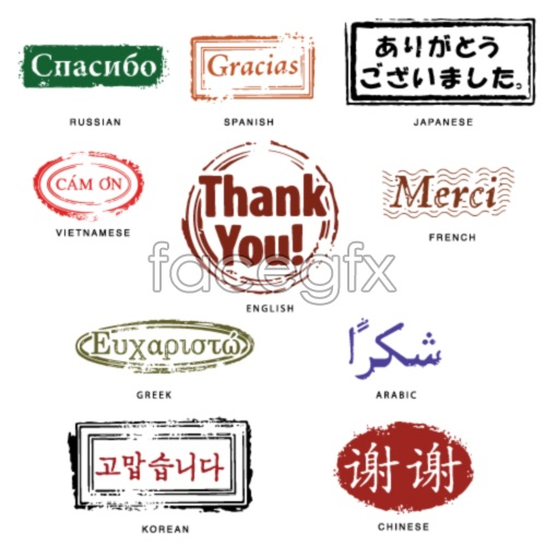National thank you seals vector