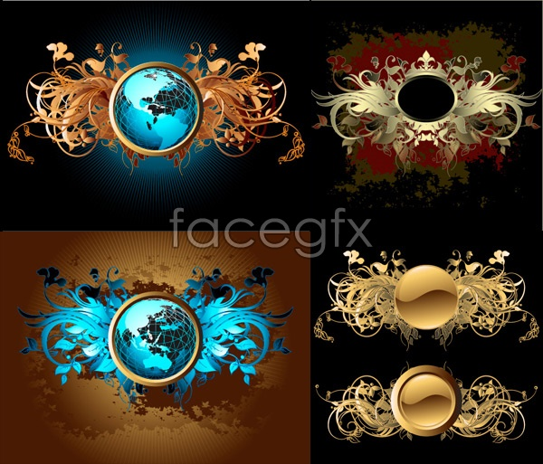 Ornate pattern planet vector