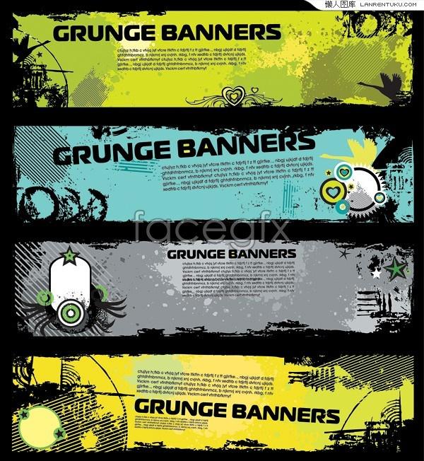 Retro style trend banner vector