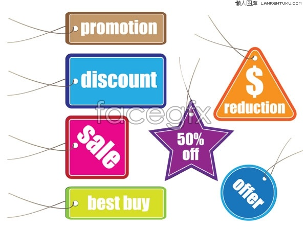 Special offer labels vector art