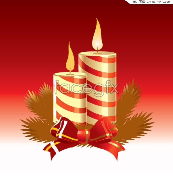 The Christmas candle vector fine
