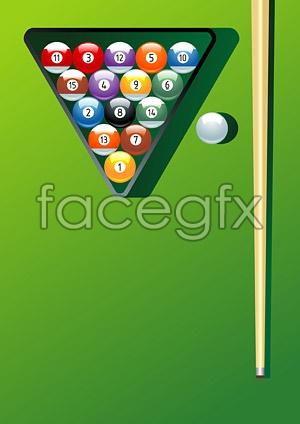 Vector billiard sports