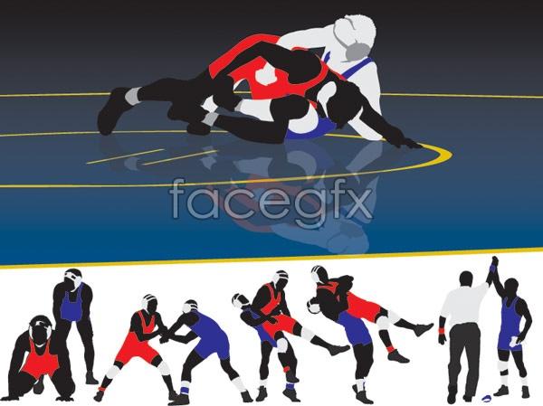 Wrestling-vector