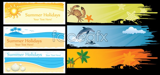 Summer fresh elements vector