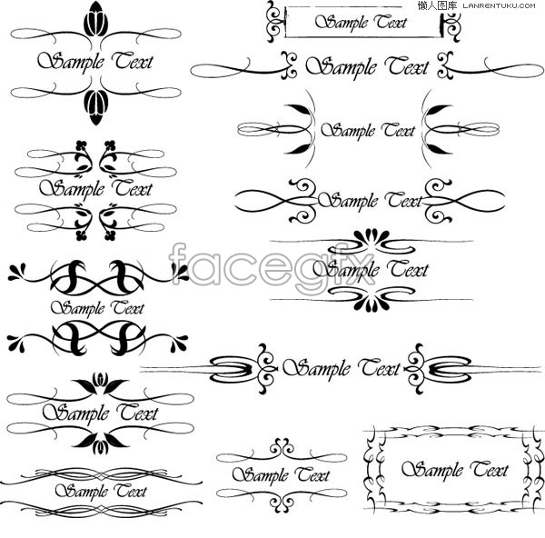 EPS format variety of vector pattern and lace | Free download