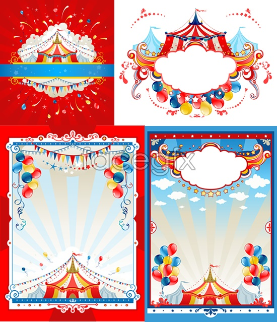 Circus vector material | Free download