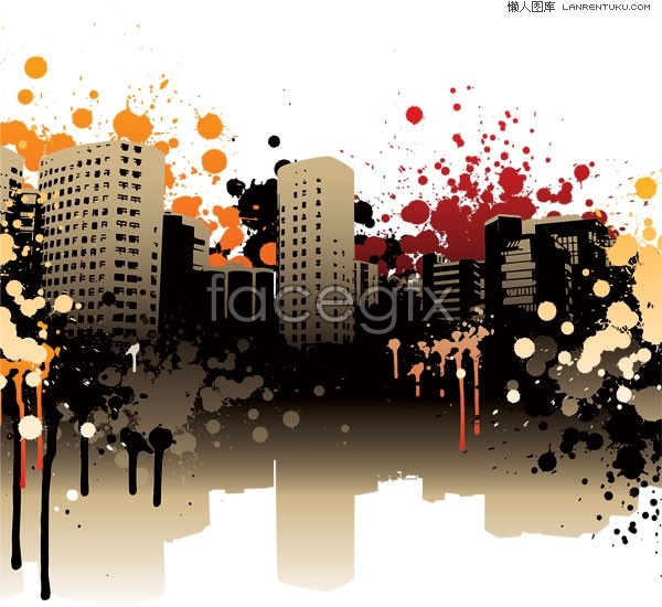 Trend of urban vector illustration