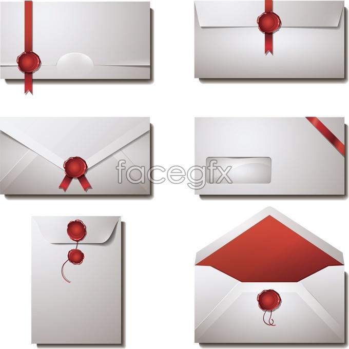 Elegant envelope vector design template | Free download