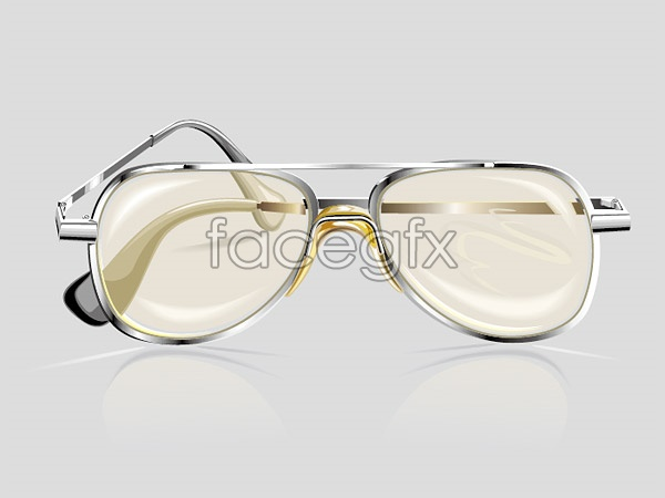 Glasses realistic vector vector
