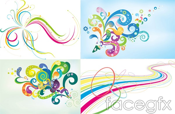 Dynamic trend line EPS format designs vector | Free download