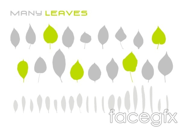 Leaf vector silhouettes vector