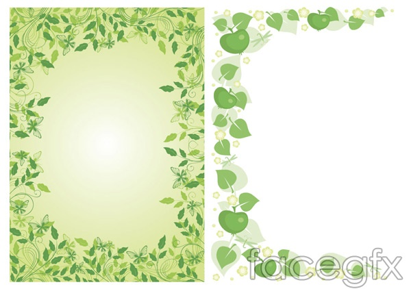 Green lace vector spring spring plants