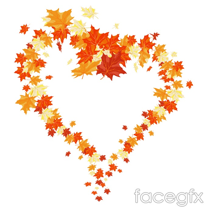 Autumn Heart-shaped Maple Leaf Chinese Restaurant Vector ...