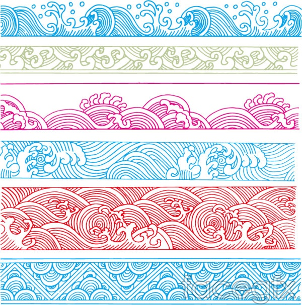 Classical Wave Pattern Vector Eps Format Free Download