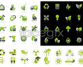 Green icon set _ icon vector  vector