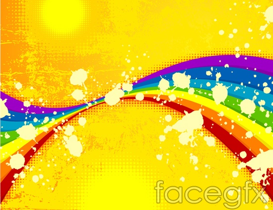 Vector trends Rainbow colorful color ink
