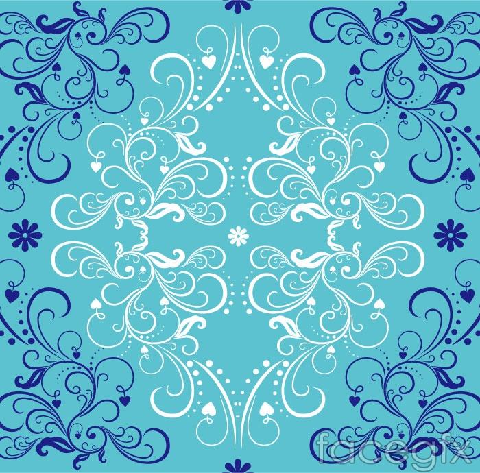 Blue pattern background vector