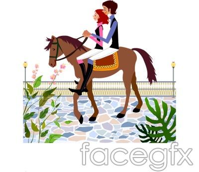 City girl Street character image vector