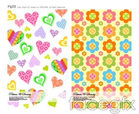 Cute background series vector -6