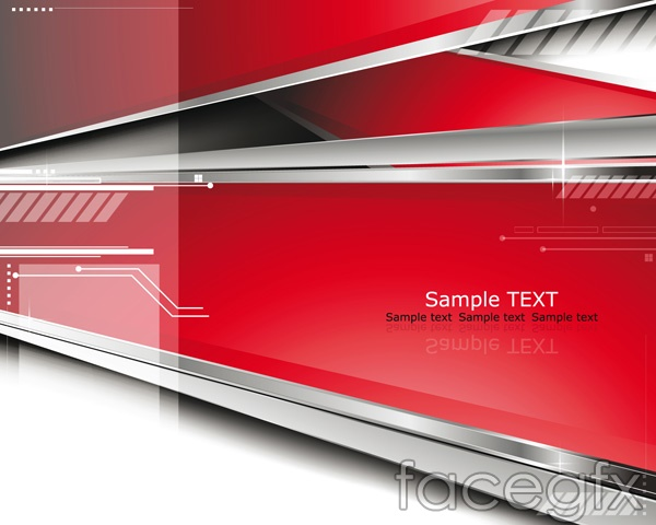 Dynamic sense of science and technology background vector