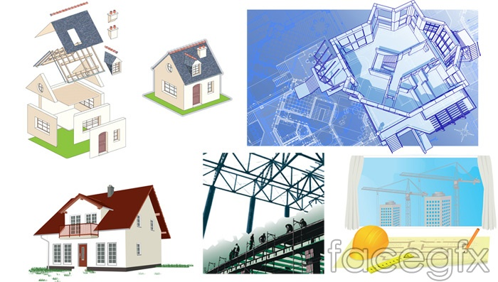 House theme vector real estate top