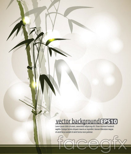 Ink bamboo background vector