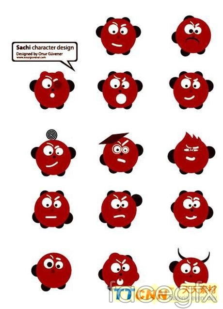 Lovely red expression vector designs